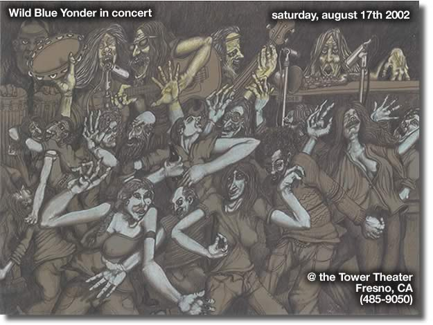 august 17th 2002, Wild Blue Yonder in concert, tower theater, 485-9050